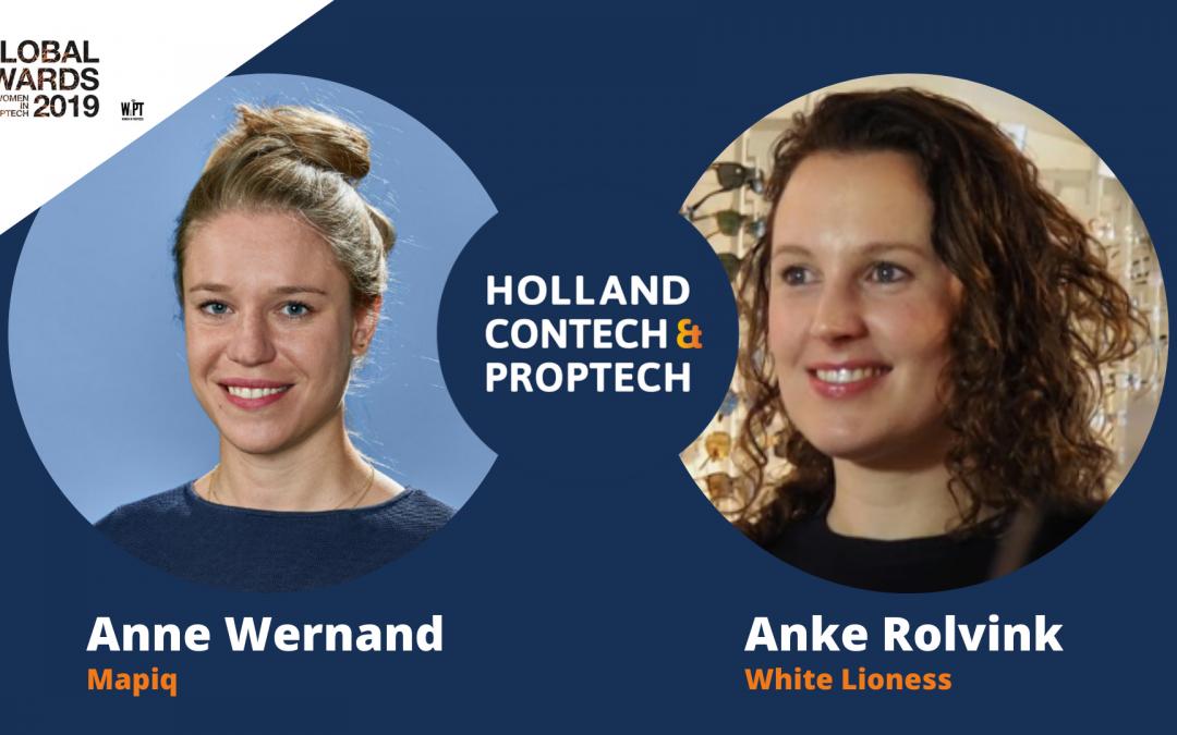 Anne Wernand (Mapiq) en Anke Rolvink (White Lioness) genomineerd voor Global Women in PropTech Awards!