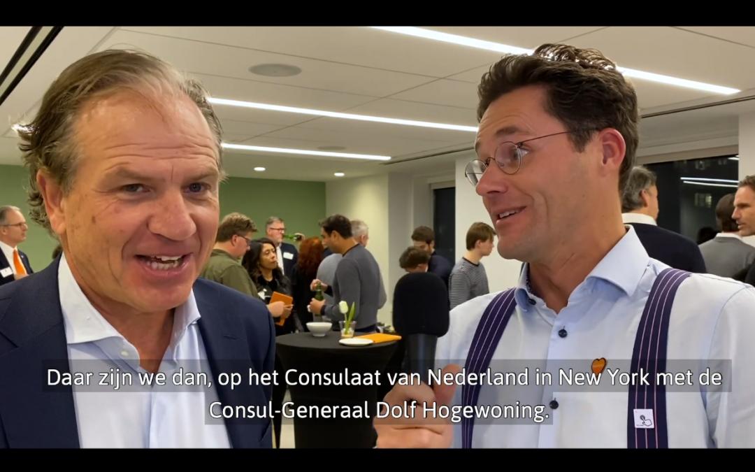 Wouter Truffino interviewt Consul-Generaal Dolf Hogewoning over succesvol zaken doen in New York