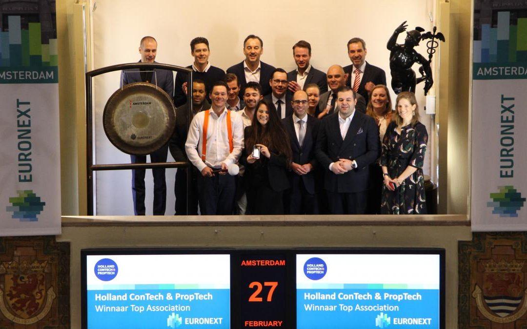 Holland ConTech & PropTech en tien corporate partners openen Euronext aandelenbeurs