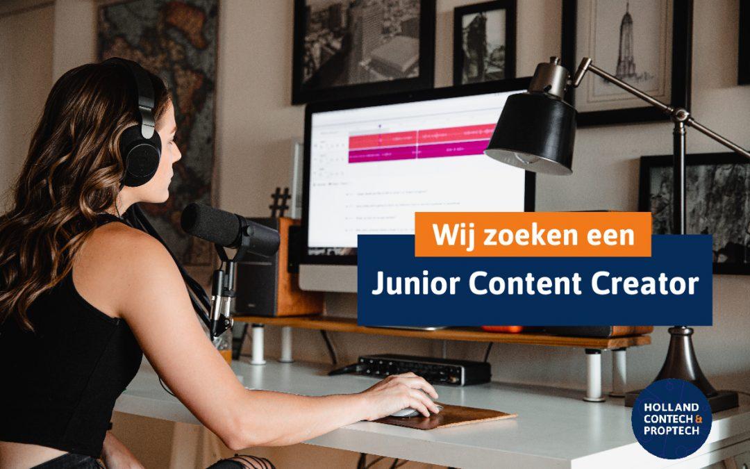 Vacature | Holland ConTech & PropTech op zoek naar Junior Content Creator!
